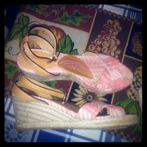 ***Sandal style wedges by COACH***